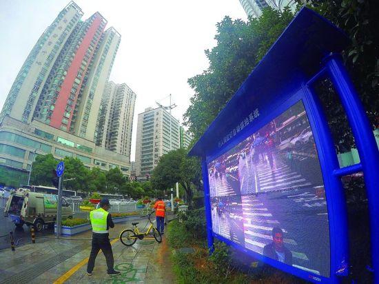 长沙首个行人闯红灯自动抓拍系统启用