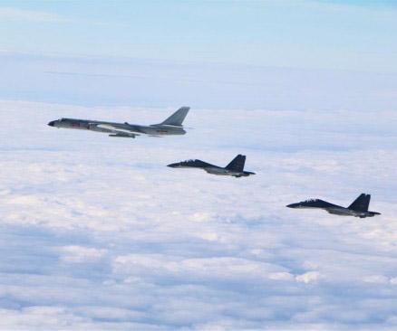 空军多型战机成体系远洋训练