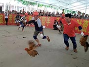 """广西平果端午朋友节 抓鸡抓猪欢乐多""""2018·平果欢乐端午朋友节""""正在广西平果县进行,一系列欢乐趣味竞技活动陆续开展。"""