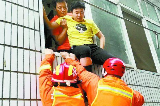 大水围困,16名中考生等来了消防员